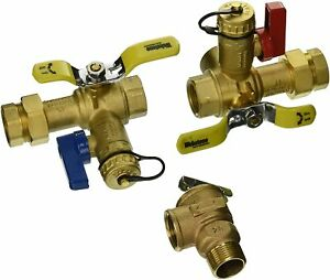 Tankless Water Heater Isolation Valve Kit 34'' w Relief Valve for RheemRinnai