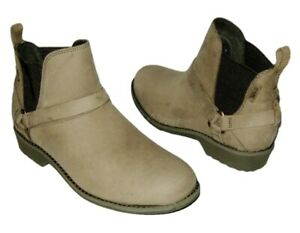 NEW TEVA DELAVINA DOS CHELSEA LEATHER PULL ON ANKLE BOOTS DE LA VINA WOMENS 6 $29.99