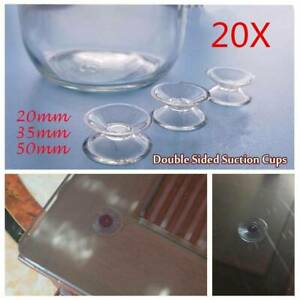 10x Double Sided Suction Cups Suction Cushion Rubber For Glass Plastic Hold PVC