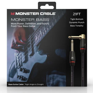 Monster Prolink Bass 1 4quot; Instrument Cable. 21 ft Right Angle to Straight $69.99