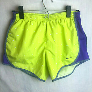 Nike Dri Fit Tempo Running Shorts Girls XL Lined Green Purple Athletic $11.99