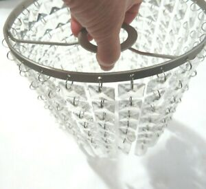 Chandelier Square Crystal Glass Ceiling Light Lamp Shade