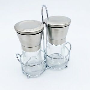 Premium Salt And Pepper Grinder Set of 2 S(stainless Steel And Glass)