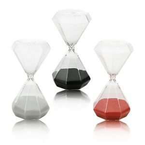 20 Minute Diamond Shaped Colored Novelty Tabletop Hourglass Sand Egg Timer