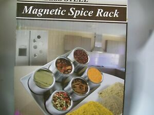 Spice Rack, 6-pc. Stainless Steel Magnetic Spice Rack by Home Marketplace