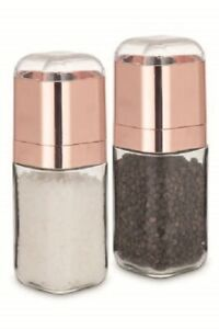 Gorgeous Salt & Pepper Grinder Glass Set, W/ Adjustable Grinder Fine to Coarse