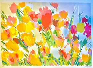 Tulips And Roses Original Hand Signed Limited Edition Lithograph Joan Paley $95.00