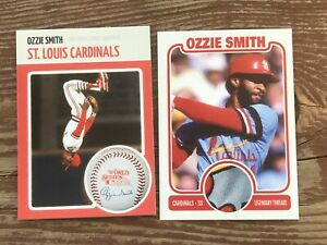 OZZIE SMITH St. Louis CARDINALS 1982 WS Champions ** Pick a Card ** Threads