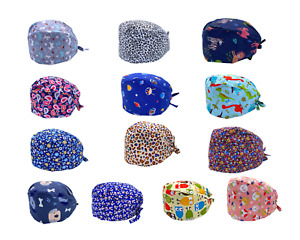 Ship from USA Cotton Surgical Scrub Cap Hat Doctor Nurse Kitchen w SWEATBAND