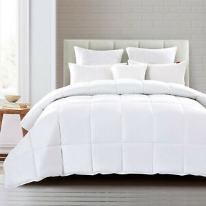 Peace Nest All Season White Down Comforter 600 Fill Power with 100% Cotton Cover