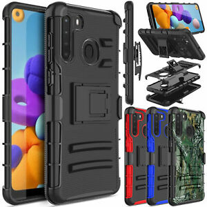 For Samsung Galaxy A21 Fits Otterbox Belt Clip Holster Case Cover With Kickstand