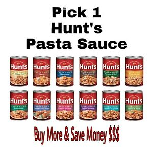 Hunt's Pasta Sauce 24 oz Can Pick 1: Four Cheese, Garlic & Herb, Meat & More