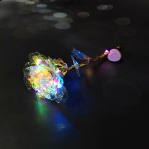 24K Gold Foil LED Rose Flower Luminous Galaxy Valentine's Day Mother's Day Gift