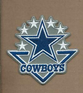NEW 3 7 8 X 4 DALLAS COWBOYS 6 STARS IRON ON PATCH FREE SHIPPING C1