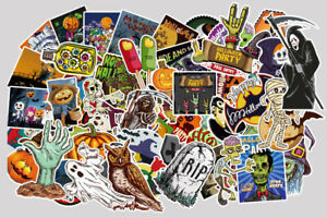 100 pcs Halloween Stickers for Longboard Skateboard Luggage Laptop Party Decor