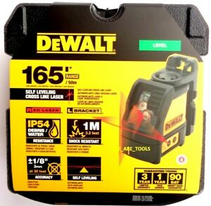 NEW Dewalt DW088K Red Cross Line Laser Self Leveling 165#x27; Horizontal amp; Vertical