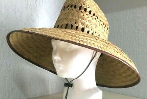 Lifeguard Palm Straw Sun Hat  Extra Wide Brim ++ SUMMER SPECIAL ++