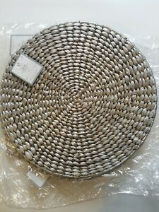 1 pcs Place Mats Natural Water Hyacinth Decorative Round Hand Woven Rattan NEW