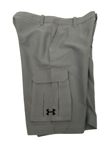UNDER ARMOUR Boy's Shorts Golf Casual Cargo Gray Youth Large Loose NWT $44 $26.99