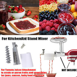 Fruit & Vegetable Strainer Attachment Tomato Juicer For KitchenAid Stand Mixer
