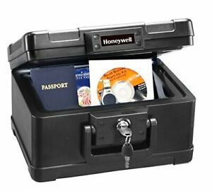 Fireproof Waterproof Security Safe Box Keyed Chest Document Storage Protector 4L