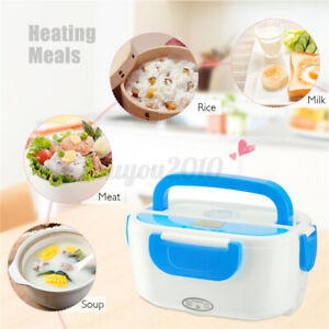 50W Portable Car Electric Heated Heating Lunch Box Bento Travel Food   H