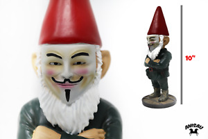 Anonymous Hacker Mask Gnome Guy Fawkes Unique Garden Gnome 10quot; NEW $29.99