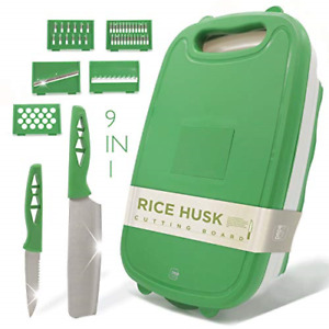 Cutting Board For Kitchen - 9-In-1 Multifunctional Cutting Boards - Durable Rice