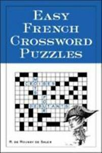 Easy French Crossword Puzzles Language French English and French Edition $5.50