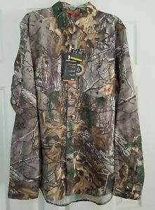 Under Armour Mens SMALL Realtree Camo Fish Hunt Shirt 1255090 NWT $79 FREE SHIP $22.99
