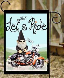 Let's Ride Garden Flag **  Double Sided ** Top Quality