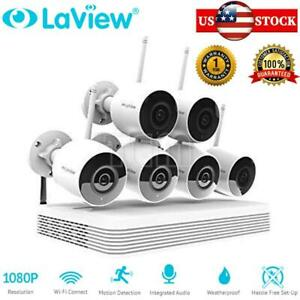8CH NVR 1080P Wireless Wifi Security CCTV System with 6x Bullet Camera 1TB HDD