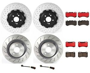 Brembo Front Rear Full Brake Kit Disc Rotors Ceramic Pads For MB R230 Sport Pkg