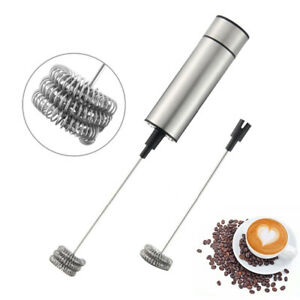 2Pcs Heads Electric Milk Frother Bubbler Coffee Blender Egg Beater Kitchen Tool