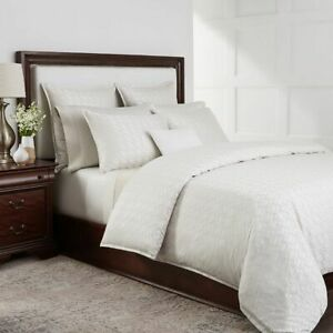 SFERRA Chessia Full/Queen Duvet Cover Natural NEW