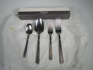 Cutipol Athena Stainless Flatware 4 piece fork & spoon set Portugal, in box