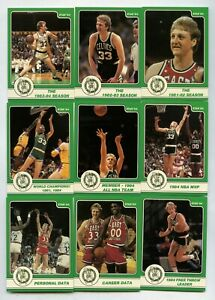 LARRY BIRD 1984 STAR BASKETBALL COMPLETE 18 CARD SET BOSTON CELTICS HOF NICE