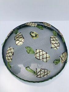 Vtg. Food Dome Cover Mesh with Raised Pineapple Decoration Picnics/Cookouts 12x5