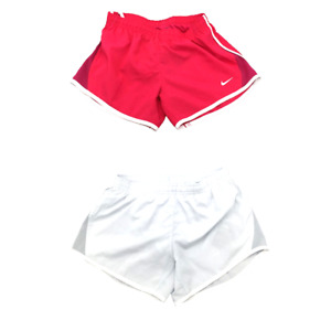 New Nike Youth Girls DRI FIT Shorts Size Small 7 8 Pink Grey MSRP $25.00 $14.54