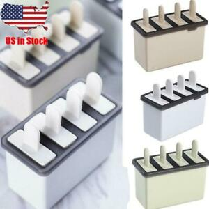 Kitchen DIY Pop Mold Popsicle Maker Silicone Tray Pan Frozen Ice Cream Mould US