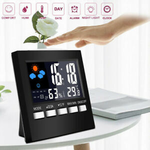 Digital LCD Weather Station Clock Calendar Humidity Thermometer Wireless Control