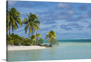 White sand bank in the waters of the Canvas Wall Art Print Home Decor $242.99