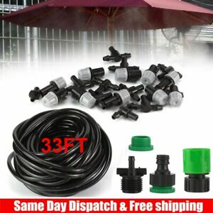 33FT Hose Outdoor Patio Water Mister Mist Nozzles Misting Cooling System Cooler