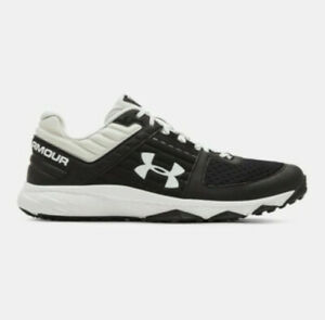NEW Mens Under Armour Yard Trainer Baseball Shoes Black White Sz 11 M $45.99