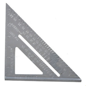 Metric Aluminum Alloy Speed Square Triangle Angle Protractor Ruler Woodworking $7.99