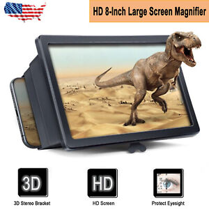 3D Phone Screen Magnifier Video Amplifier Enlarge Mobile Universal Folding Stand