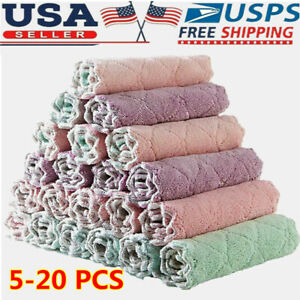 Car Wash Microfiber Towel Auto Cleaning Drying Cloth Hemming Super Absorbent USA