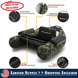 Inflatable Fishing Boat with PUMP Blow Up Boat With Storage Portable Camouflage