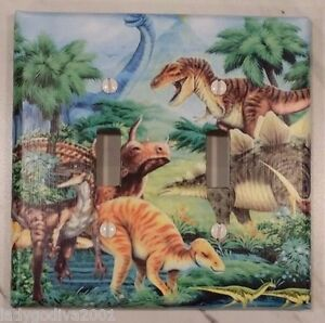 Dinosaur World ~ Double Light Switch Cover-Larger Size-FREE Shipping
