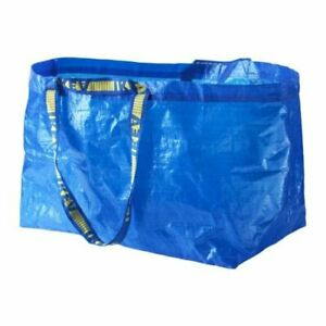 IKEA LARGE BLUE BAG Shopping Grocery Laundry Storage Tote ECO Bags 19 GAL FRAKTA